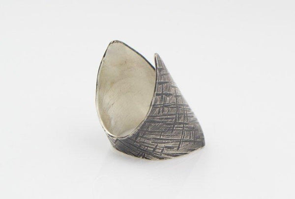 Hammered Sterling Silver Cuff Ring