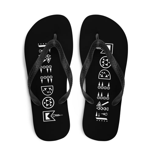 Black & White Freedom Flip-Flops