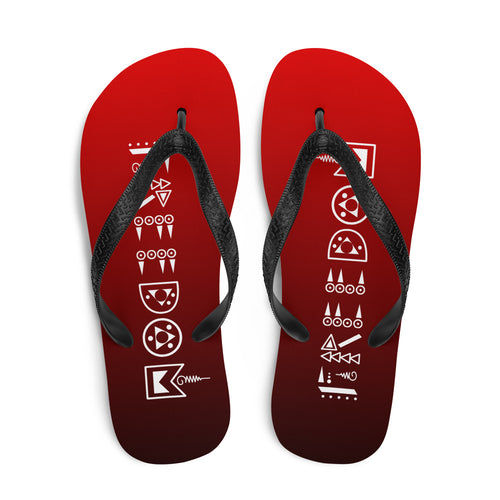 Black & Red Freedom Flip-Flops