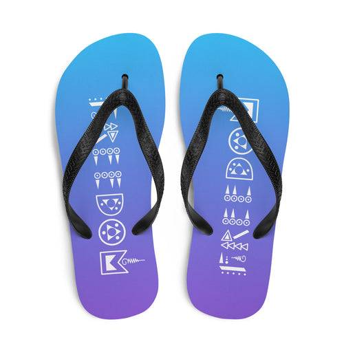 Purple & Blue Freedom Flip-Flops