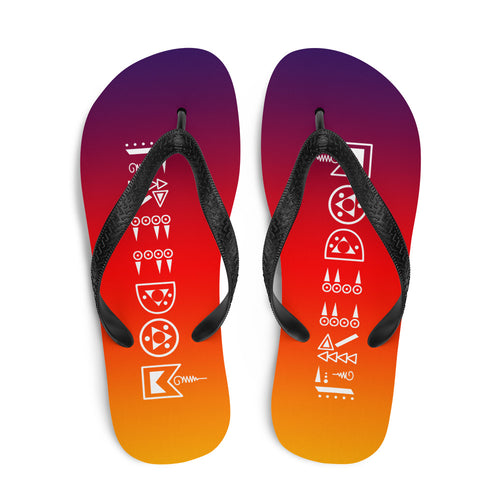 Sunset Freedom Flip-Flops