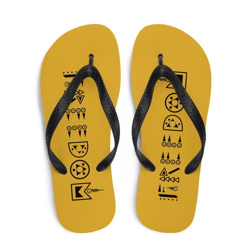Yellow Freedom Flip-Flops