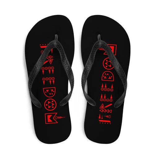 Black/Red Freedom Flip-Flops