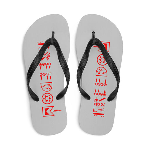 Grey & Red Freedom Flip-Flops