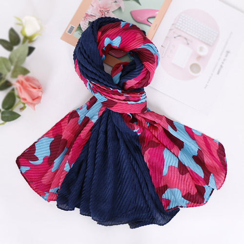 Pink and blue camouflage hijab