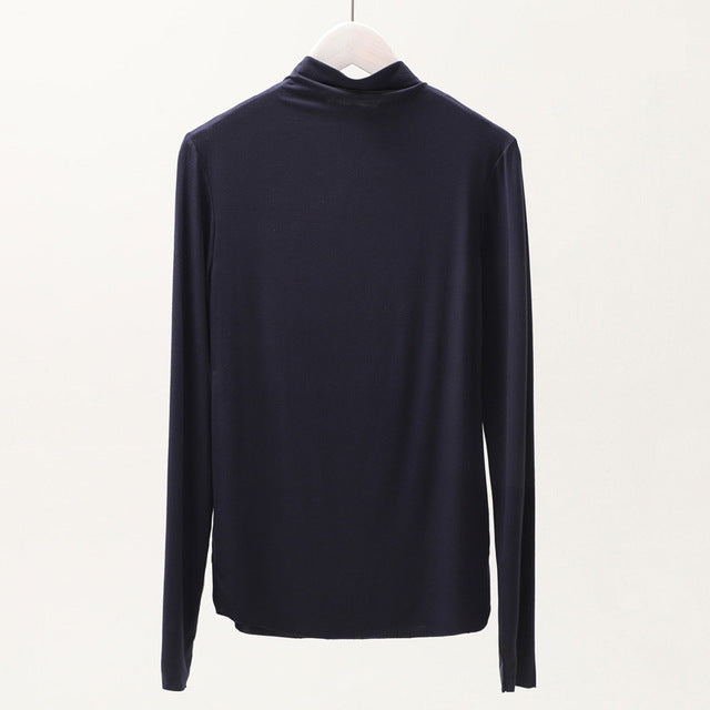 Navy Blue High Neck Top