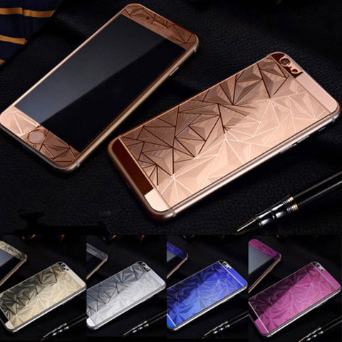 3D Diamond Electroplated Glass Cover - Phone Dress