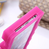 3D PINK Letter Soft Silicone Case - Phone Dress