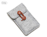 Handmade Wool Felt Wallet Bag - Phone Dress