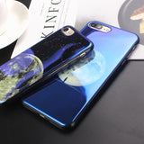 Space Electroplated Blue Light Cover for iPhone - Phone Dress