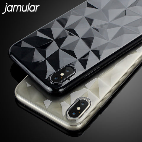 3D Diamond Rhobust Soft Case For iPhone - Phone Dress