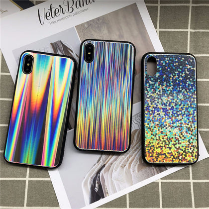 New Holographic Mirror Laser Phone Case For iPhone - Phone Dress