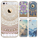 Scenic Soft Sillicon Transparent Cellphone Cover - Phone Dress