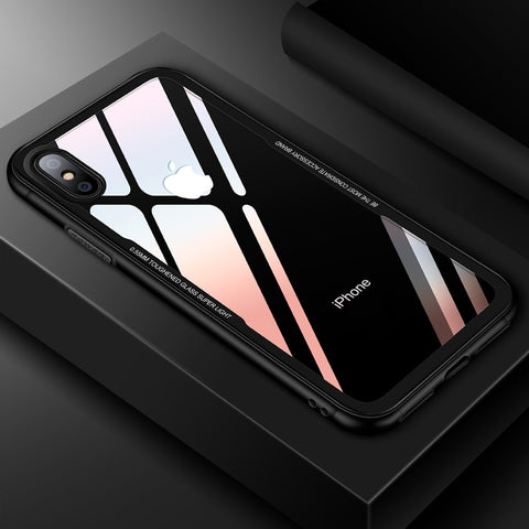 Shockproof Tempered Glass Phone Case For iPhone - Phone Dress