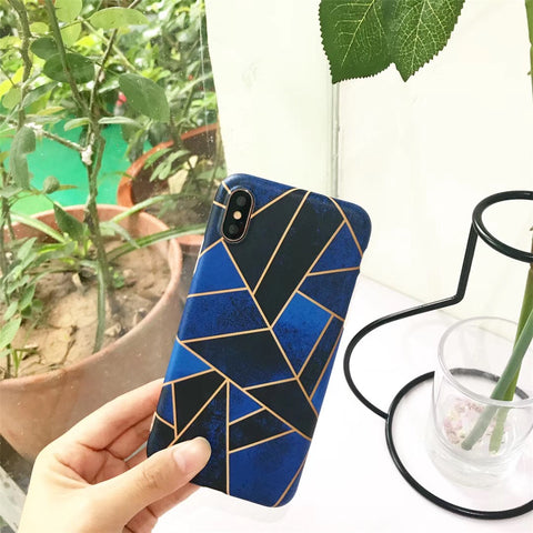 Simple Style Marble Geometric phone case - Phone Dress