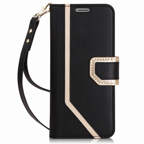 Inside Makeup Mirror In Leather Wallet Case - Phone Dress