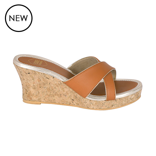 Tan Sarah Wedges