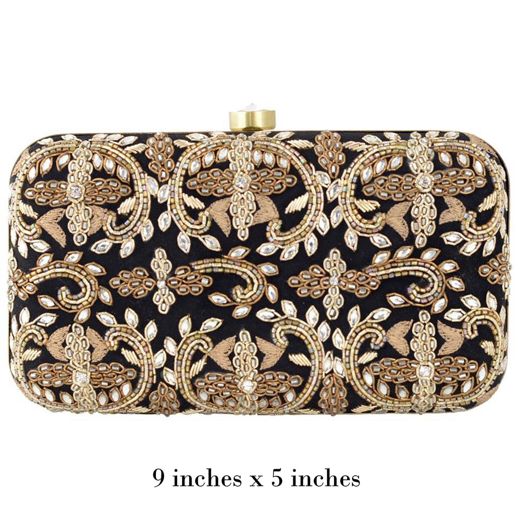 Black Ethnic Clutch
