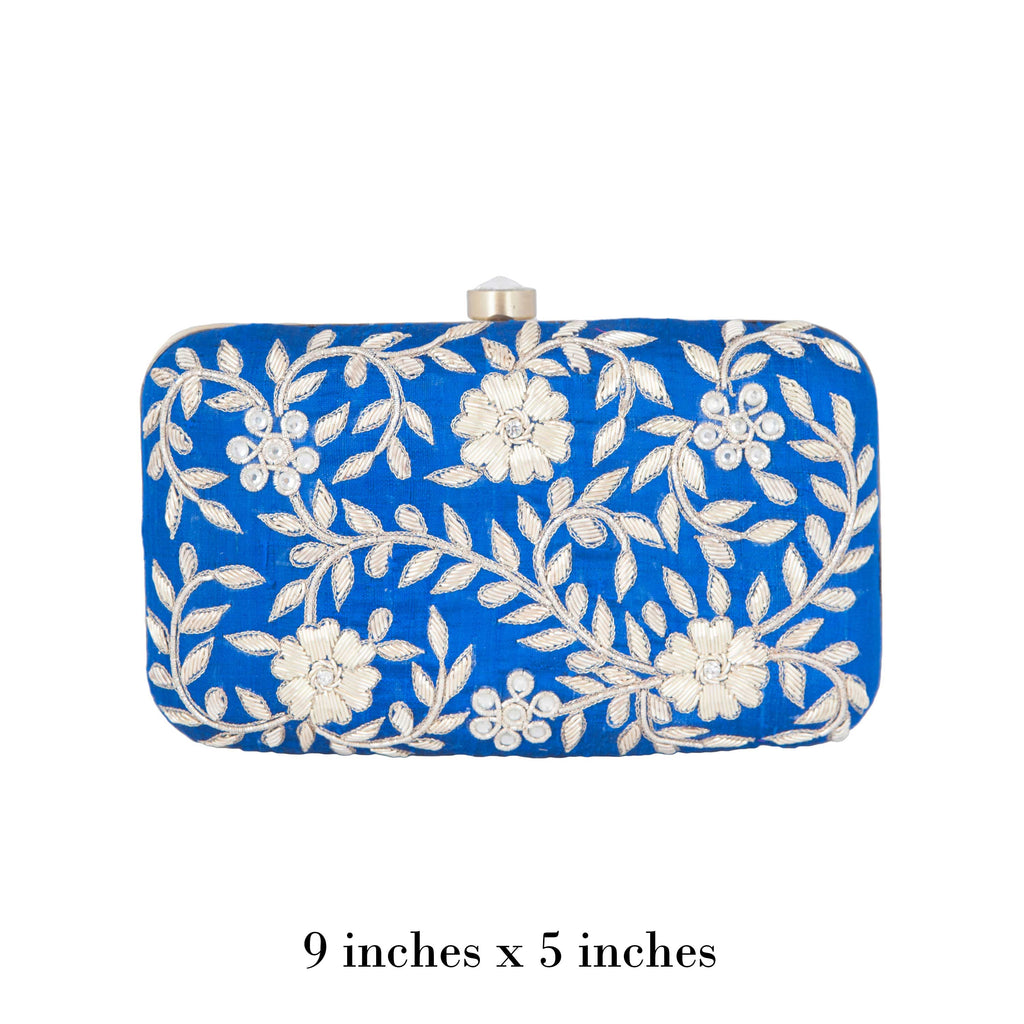 Blue Kyra Clutch