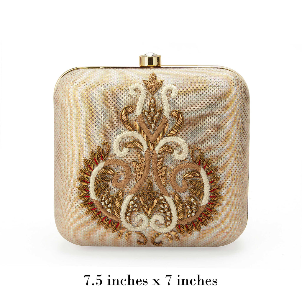 Gold Zarine Clutch