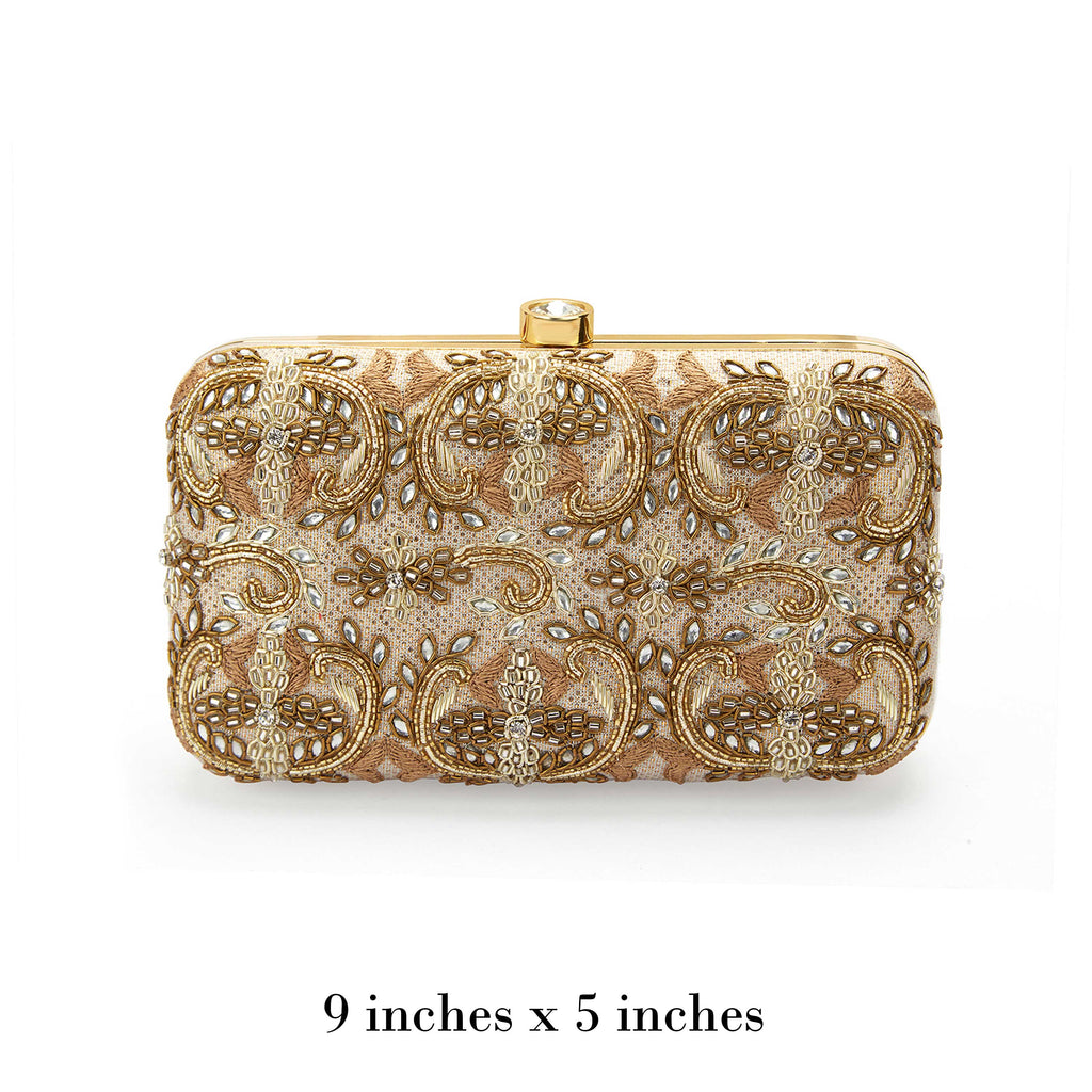 Gold Ethnic Clutch