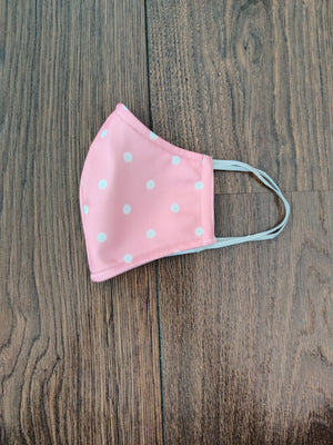 Blush Polka Mask
