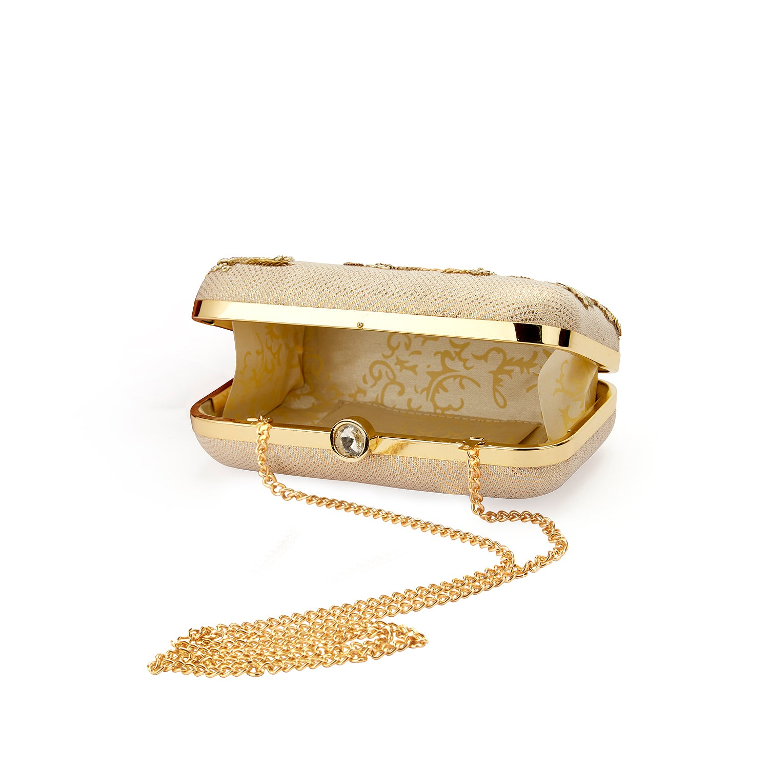 Gold Zardozi Clutch