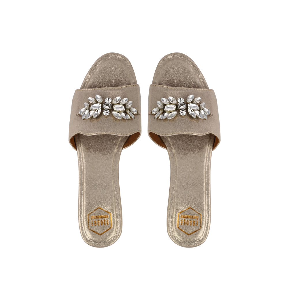 Light Gold Fiona Flats