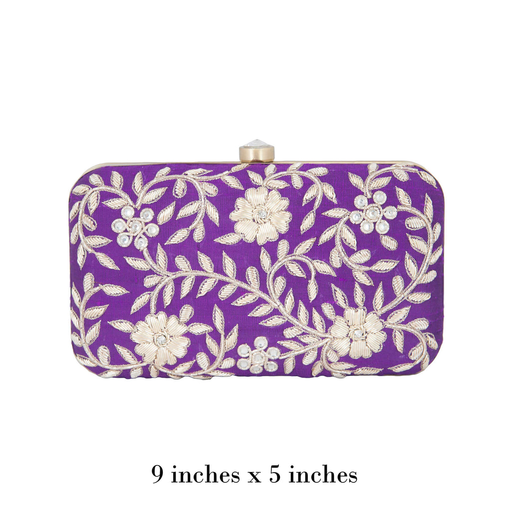 Purple Kyra Clutch