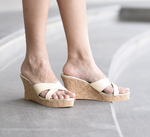 Beige Sarah Wedges