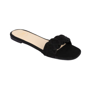Black Beachy Flats