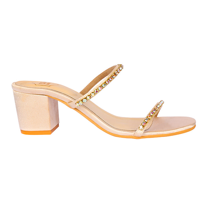 Light Gold Kiara Heels