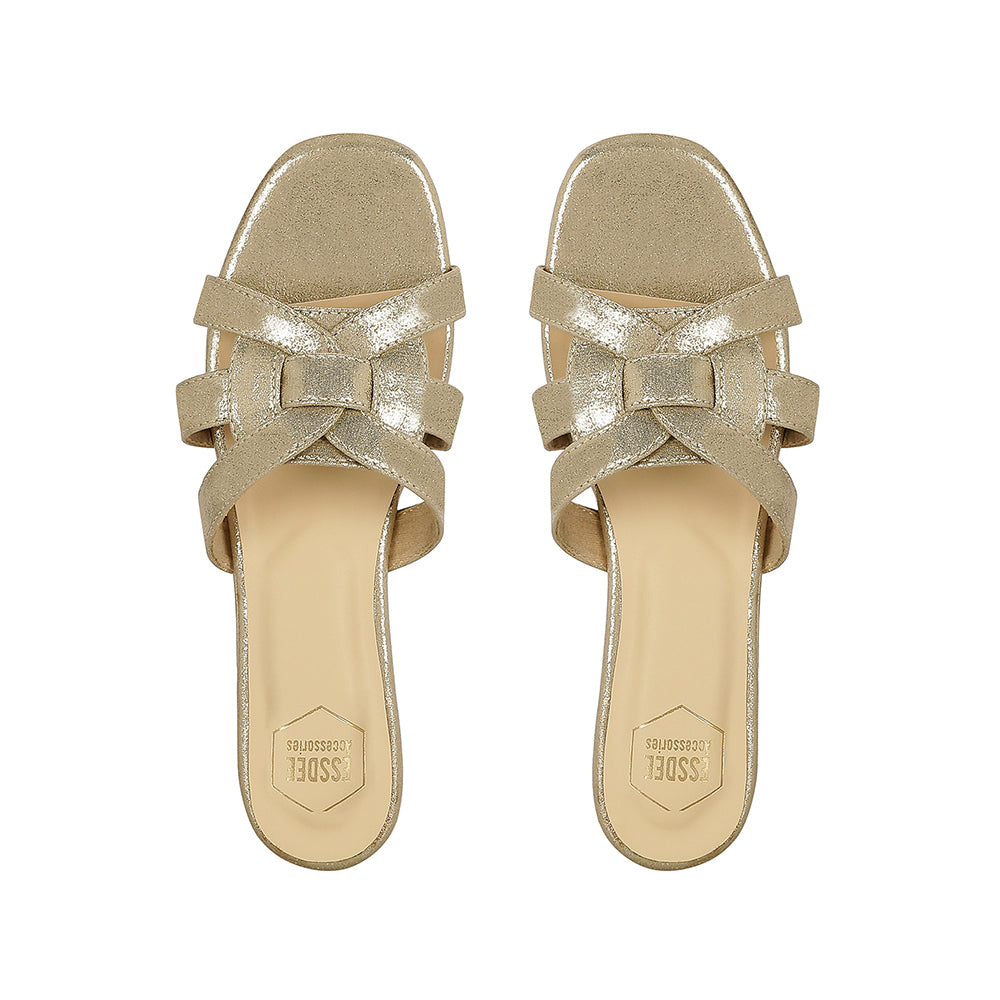 Light Gold Favella Flats