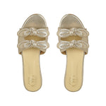 LIght Gold Double Bow Flats