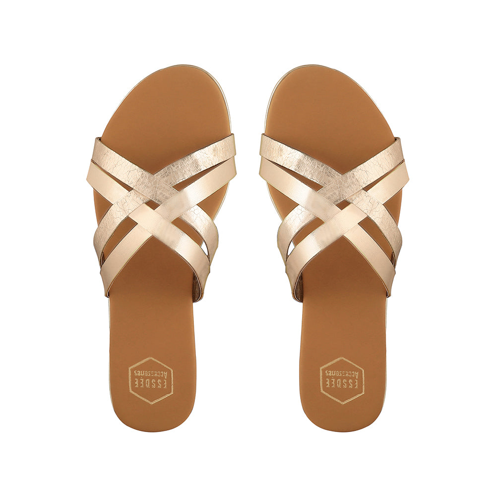 Light Gold Marbella Flats