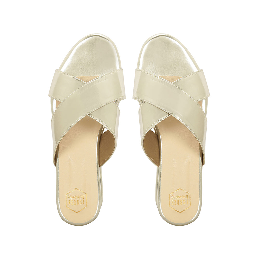 Light Gold Cross Flats