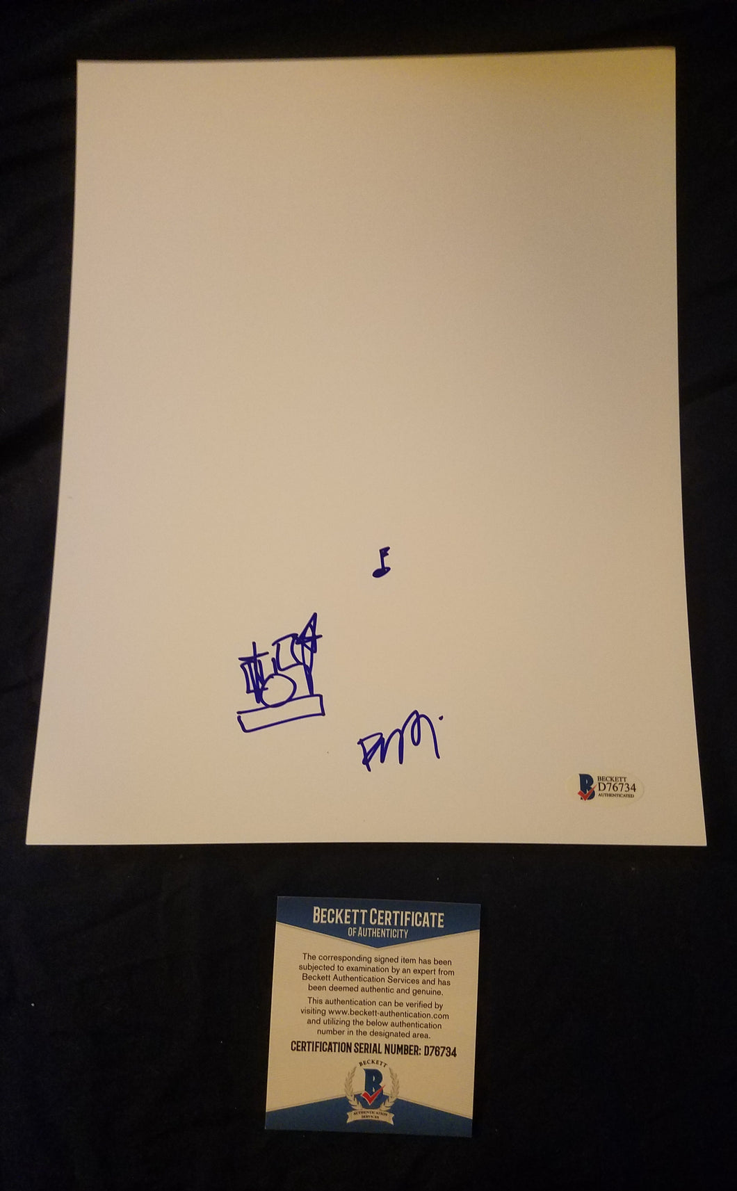 Fred Armisen Beckett Authenticated Hand Drawn Sketch