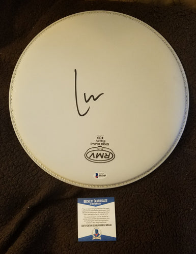 Lars Ulrich Beckett Authenticated Hand Signed 12 Inch Drumhead Metallica