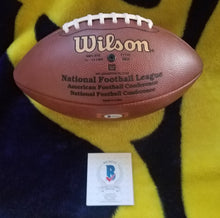Howie Long Beckett Authenticated Hand Signed Wilson NFL Football