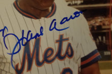 Hank Aaron and Willie Mays Beckett Authenticated Hand Signed 8x10 Photo