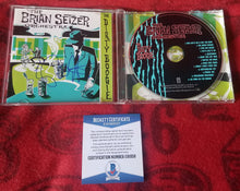 Brian Setzer Beckett Authenticated Hand Signed CD Cover The Dirty Boogie