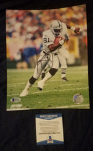 Tim Brown Beckett Authenticated Hand Signed Raiders 8x10 Photo