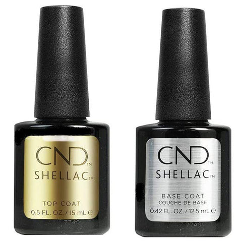 CND Shellac - Base and Top Coat 0.5 oz Large Size