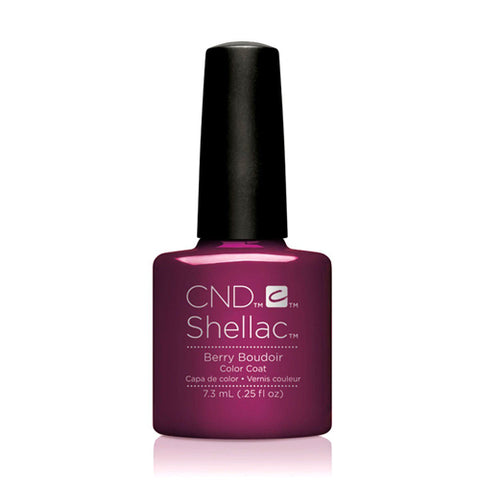 CND Shellac - Berry Boudoir 0.25 oz - Milky Beauty
