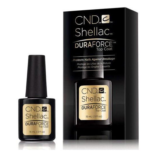 CND Shellac - Duraforce Top Coat 0.5 oz - Milky Beauty