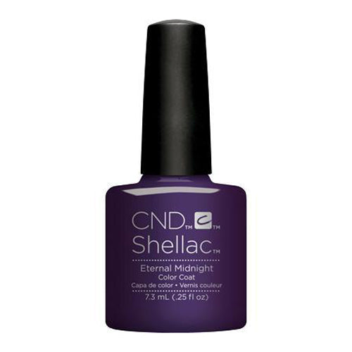 CND Shellac - Eternal Midnight 0.25 oz - Milky Beauty