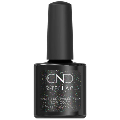 CND Shellac - Glitter Top Coat 0.25 oz - Milky Beauty