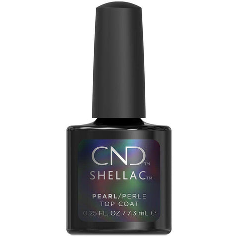 CND Shellac - Pearl Top Coat 0.25 oz - Milky Beauty