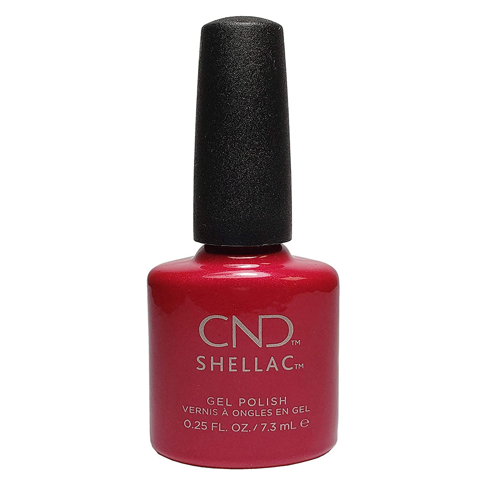 CND Shellac - Red Baroness 0.25 oz - Milky Beauty