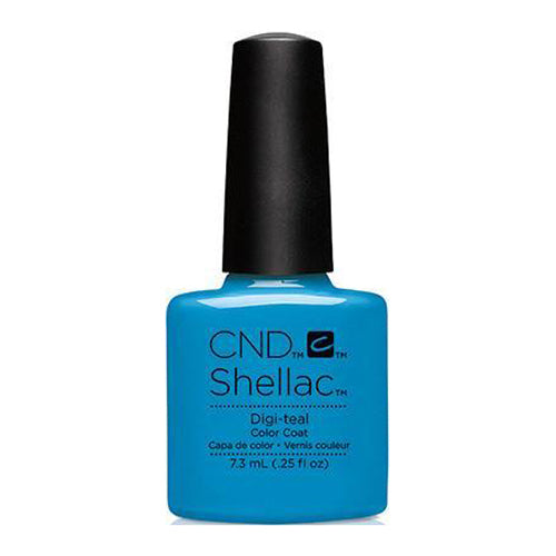 CND Shellac - Digi-Teal 0.25 oz - Milky Beauty